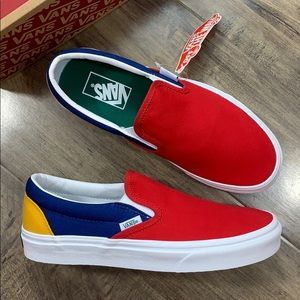 VANS CLASSIC SLIP ON VANS YACHT CLUB red/blue wmns